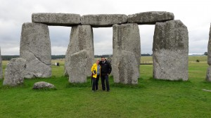 With my driver, Ricardo, at Stonehenge
